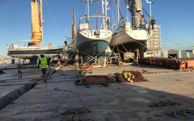 Taking delivery of some sailing yachts